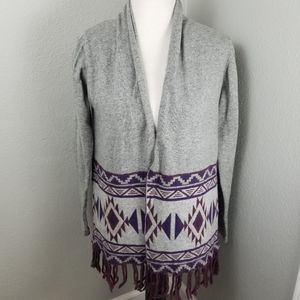 Charming Charlie Open Front Cardigan Medium Aztec